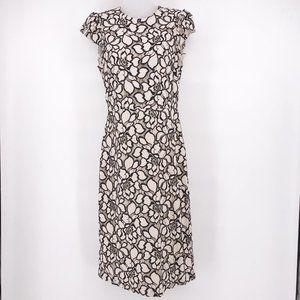H&M Rose Lace Dress Ivory & Black
